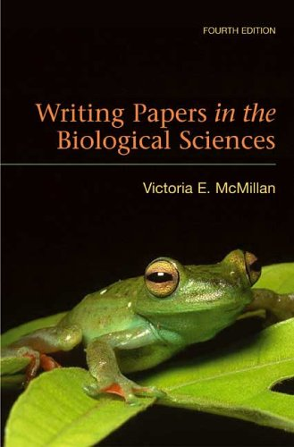 Writing Papers in the Biological Sciences