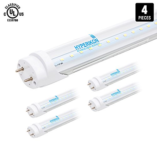 4-Pack of Hyperikon® T8 LED Light Tube, 2ft,