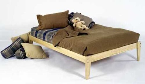 Full Size - Solid Wood Platform Bed Frame - Clean, Unfinished, Chemical Free Pine - Made in USA