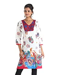 Indiankala4u Cotton Straight Kurta In Ethnic Prints - B00NRS64PW