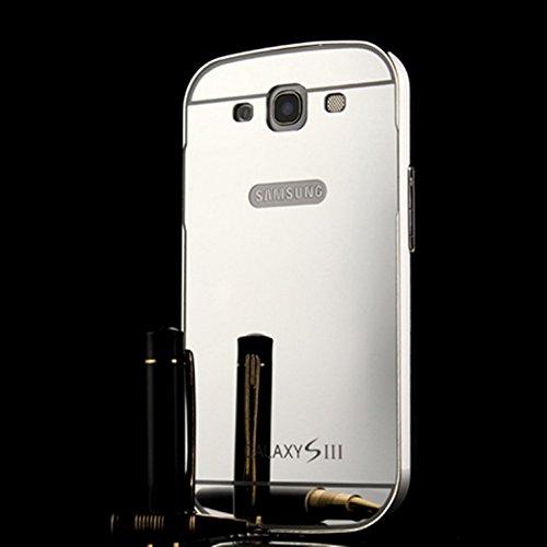 LXHGrowH Ultra-sottile Alluminio Frame in Metallo Caso Back Cover Custodia Protettiva Cassa Bumper Case Skin per Samsung Galaxy S3 SIII i9300/S3 Neo i9301--Argento