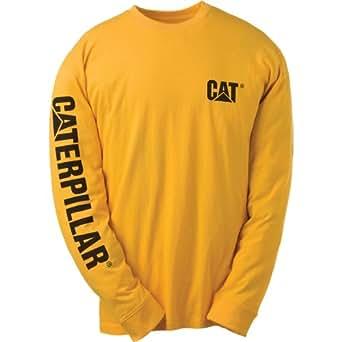 Caterpillar C1510034 TRADEMARK T-SHIRT / Mens Tops (S) (Yellow)