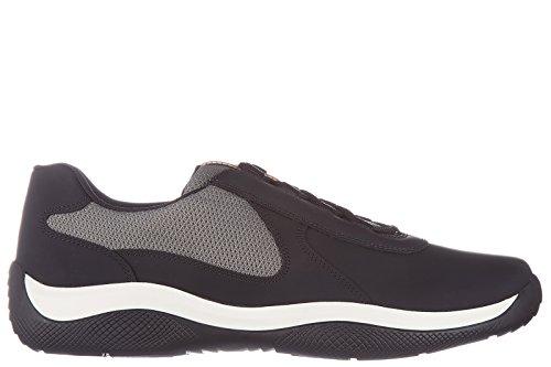 Prada scarpe sneakers uomo in pelle nuove nero EU 43.5 4E2905_1O1G_F0DIG