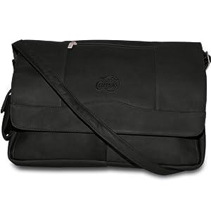 NBA Black Leather Laptop Messenger Bag by Pangea Brands