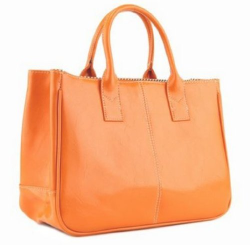 Ginkgo Store Fashion Women Korea Simple Style PU leather Clutch Handbag Bag Totes Purse Orange