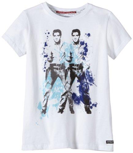 Andy Warhol by Pepe Jeans Jungen T-Shirt GERARD, Gr. 176 (Herstellergröße: L), Weiß (WHITE 800)