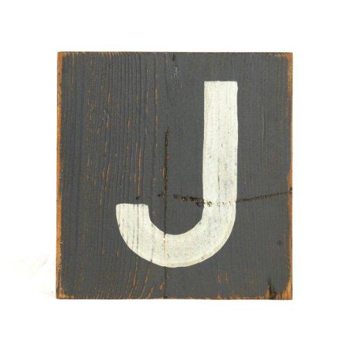 ZENTIQUE Wooden Letter, Small, Monogrammed J