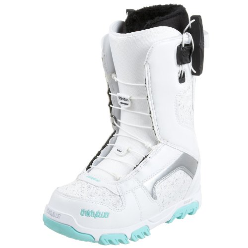 thirtytwo Women's Prion Ft Snowboard Boot,White/Mint,7 M US