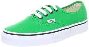 Vans Authentic Canvas Bright Green / Black Skateboard Shoes - 12.0 Men / 13.5 Women