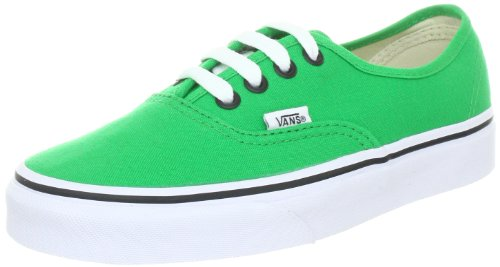 Vans Unisex-Adult Authentic Canvas Bright Green/Black Trainer VQER144 7 UK