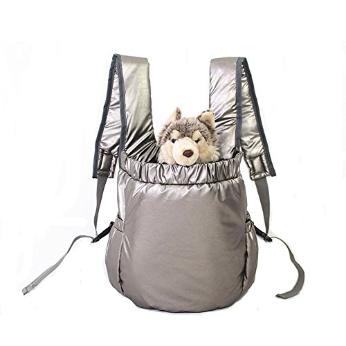 Lifeunion Dog and Cat Pet Carrier Portable Outdoor Travel Front Backpack for Shopping with Dogs,cats,puppies (Sliver Grey)