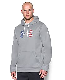 Men\'s Under Armour Freedom Storm BFL Hoodie, True Gray Heather (025), X-Large