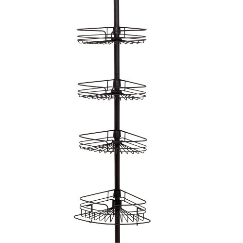 Zenith Products 2132Hb Tub And Shower Tension Pole Caddy, 4 Shelf, Oil Rubbed Bronze front-335807