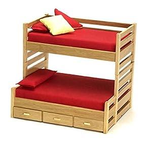 bedroom furniture oak bunk beds with trundle bed toys