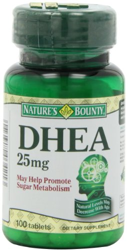 Bounty DHEA 25mg de la Nature, 100 Comprimés