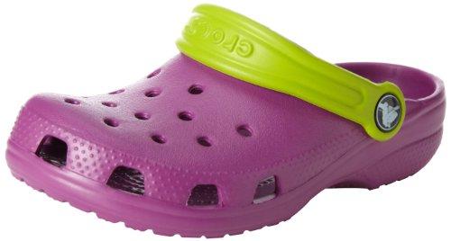 crocs Kid's Classic Clog 10006,Viola/Volt Green,M1W3 Little