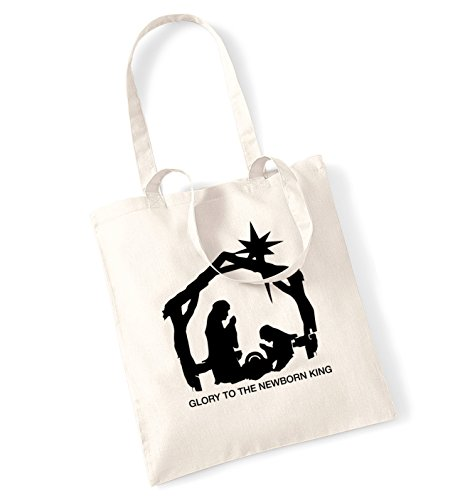 Glory to the newborn king tote bag