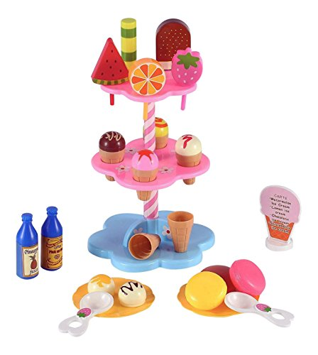 Liberty Imports Sweet Treats Ice Cream and Desserts Tower - Play Food Toy Set for Kids (Play Dessert Food compare prices)