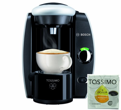 Bosch Tassimo Coffee Maker Models : Bosch Tassimo T45 Beverage System and Coffee Brewer with Pack of T Discs, Black and Silver ...