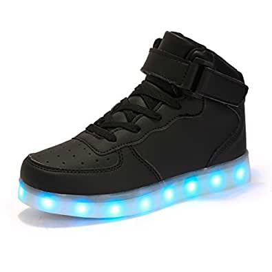kingdom mall high top usb charging led shoes