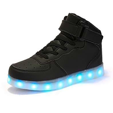 Amazon.com Kingdom Mall High Top USB Charging LED Shoes ...