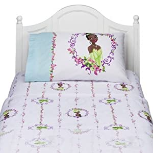Disney Tiana the Princess and the Frog Sheet Set Full Size Bedding Linens