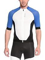 Santini Maillot Ciclismo Fs Zimp2 (Blanco / Azul)