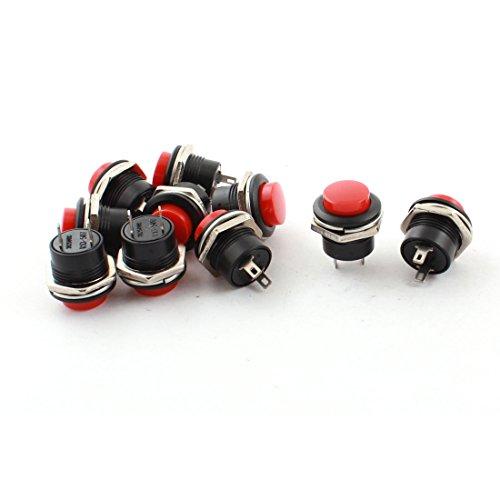 ca-250-v-3-a-16-fili-radio-shack-spst-interruttore-momentaneo-a-pulsante-colore-rosso-10-pezzi