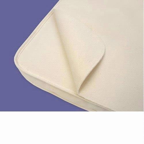 Naturepedic Organic Cotton Waterproof Protector Pad - Twin w/Straps
