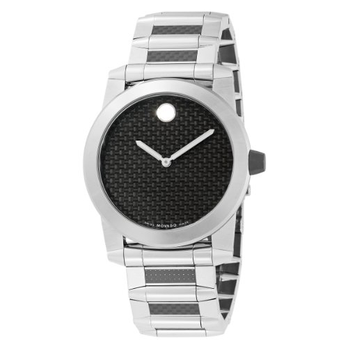 MOVADO Watch:Movado Men's 0606343 Vizio Black Rubber Strap Anthracite Round Dial Watch Images