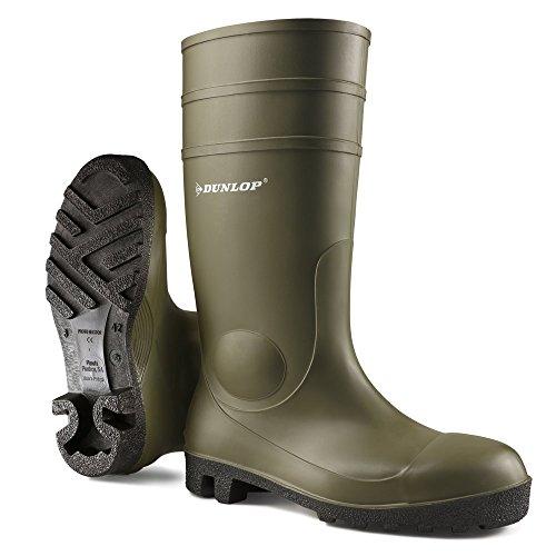 Dunlop-Grner-Sicherheits-Gummistiefel-Dunlop-Protomaster-mit-Stahlkappe-und-Trittschutz-44