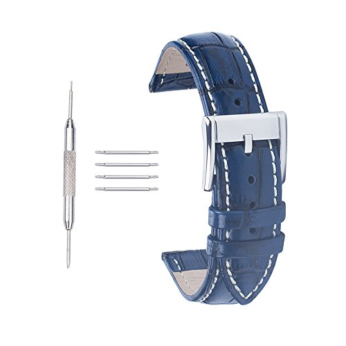 acuniontm-22mm-croco-cow-leather-watch-strap-wrist-replacement-buckle-watch-band-navy-blue