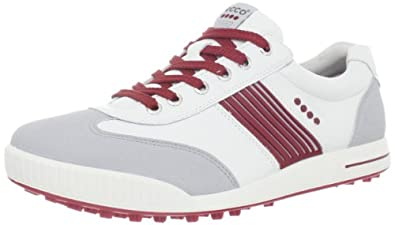 ECCO Men's Golf Street Sport Shoe,Concrete/White/Brick,44 EU/10-10.5 M US