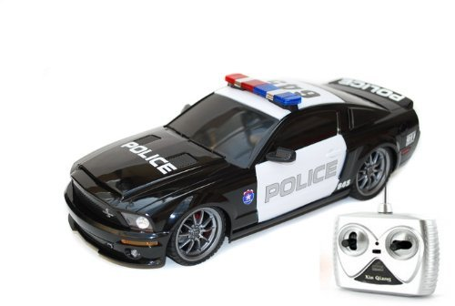 Full Function Radio Controlled - 1/18 Ford Shelby GT500 Super Snake Radio Control Police Car RC with Light