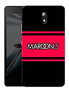 "Maroon 5 Minimal Printed Designer Mobile Back Cover For ""Lenovo Vibe P1m"" By Humor Gang (3D, Matte Finish, Premium Quality, Protective Snap On Slim Hard Phone Case, Multi Color)"