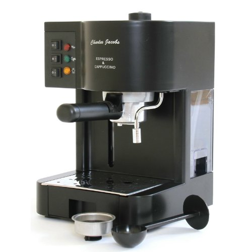 Italian Style 15 Bar Pump Coffee/Espresso Machine in Black with 6 Power Levels.