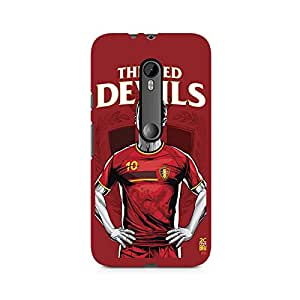 Ebby The Red Devils Premium Printed Case For Moto G3