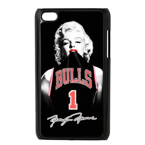 Custom sexy Marilyn Monroe with nba Chicago Bulls Derrick Rose jerseys black plastic Case for IPod Touch 4th at luckeverything store at Amazon.com