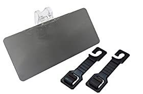 Car Sun Visor - Tinted Visor Extender for Cars, Trucks and RVs - BUNDLE with FREE Set of 2 Car Seatback Bag Holders - Easy to Install with Single, Sturdy Clip - Blocks Dangerous Sun Glare and Harmful UV Rays - High-Quality Anti-Glare Shield
