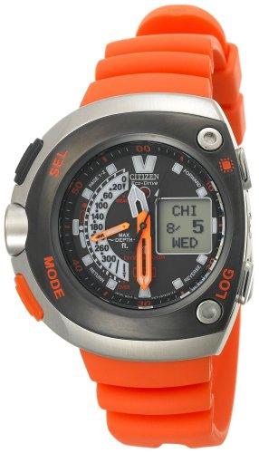 Best buy citizen men 39 s jv0030 19f eco drive 20th - Orange dive watch ...