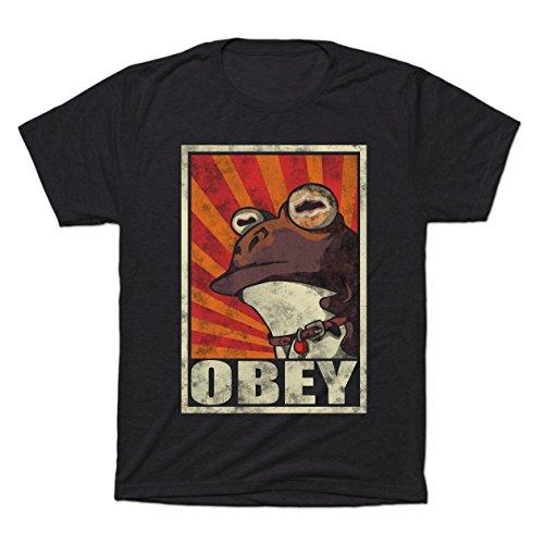 Obey The Hypnotoad! - Teepublic Female Large Tri-Blend T-Shirt