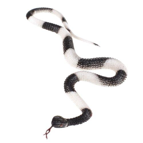 【ノーブランド品】ヘビ スネーク 蛇 いたずらグッズ 黒と白
