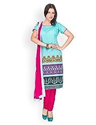 EQ Women Blue Pure Cotton Salwar Suit.