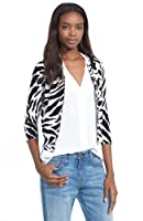 Tracy Reese Necklace Cardigan in Black Bone Graphic