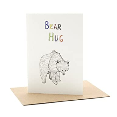 Bear Hug Single Greeting Card