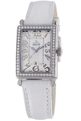 Gevril Women's 7249NL Mini Quartz Avenue of Americas White Diamond Watch