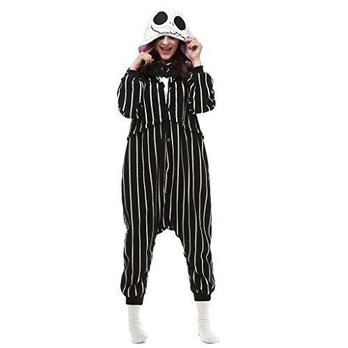 VenusDress Pajamas Anime Costume Adult Animal Onesie Jack Skellington Cosplay (Jack Skellington Cosplay compare prices)