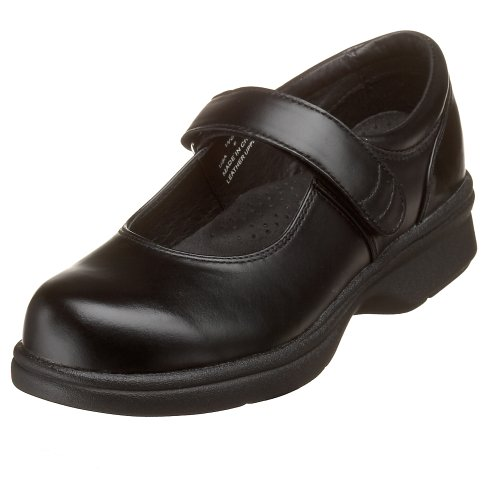 Propet Women's W0029 Mary Jane Walker,Black Smooth,6.5 W (US Women's 6.5 D)