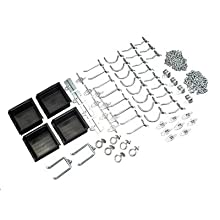 Triton Products 76964 DuraHook 64-Piece Zinc Plated Steel Hook and Bin Assortment for DuraBoard, 60 Assort Hooks and 4 Bins