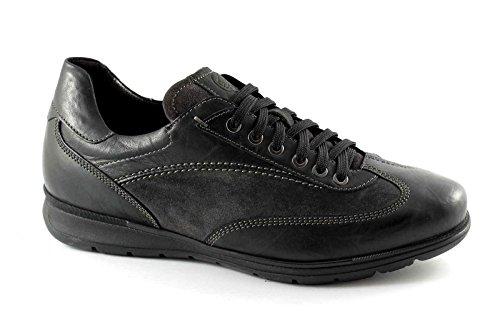 LION 11220 nero grigio scarpe uomo casual antistatiche pelle 42